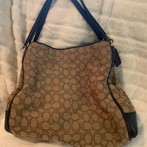 Coach signature Jacquard shoulder bag